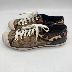 Coach Zorra Signature Sneakers  Leopard